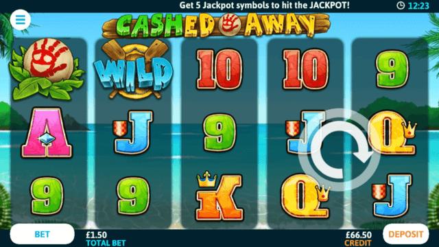 Cashed Away online slots at Bonus Boss Online Casino - in game screenshot