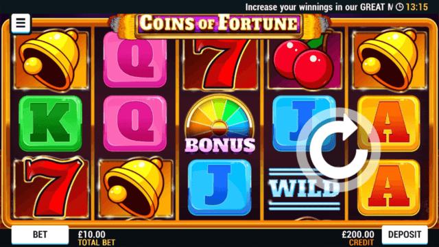 Coin Of Fortune online slots at Bonus Boss Online Casino - in game screenshot