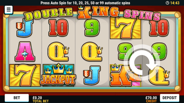 Double King Spins online slots at Bonus Boss Online Casino - in game screenshot