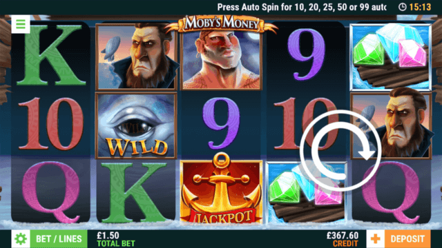 Moby's Money online slots at Bonus Boss Online Casino - in game screenshot