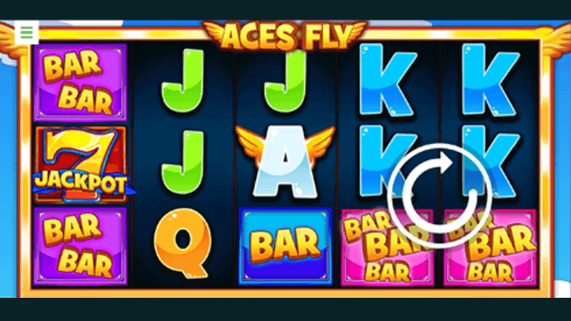 Aces Fly online slots at Bonus Boss Online Casino - in game screen shot