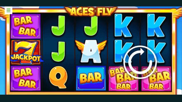Aces Fly online slots at Bonus Boss Online Casino - in game screen shot