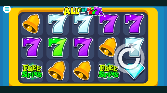 All the 7s online slots at Bonus Boss Online Casino - in game screen shot