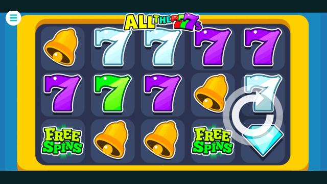 All the 7s online slots at Bonus Boss Online Casino - in game screen shot