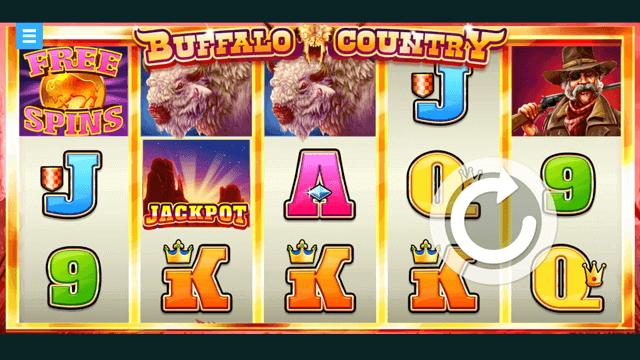 Buffalo Country online slots at Bonus Boss Online Casino - in game screen shot