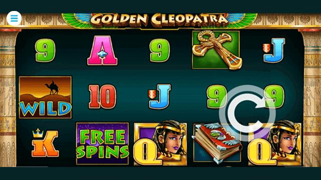 Golden Cleopatra online slots at Bonus Boss Online Casino - in game screen shot