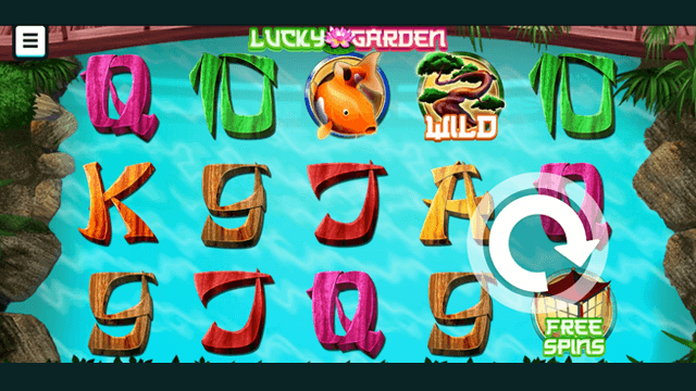 Lucky Garden online slots at Bonus Boss Online Casino - in game screen shot