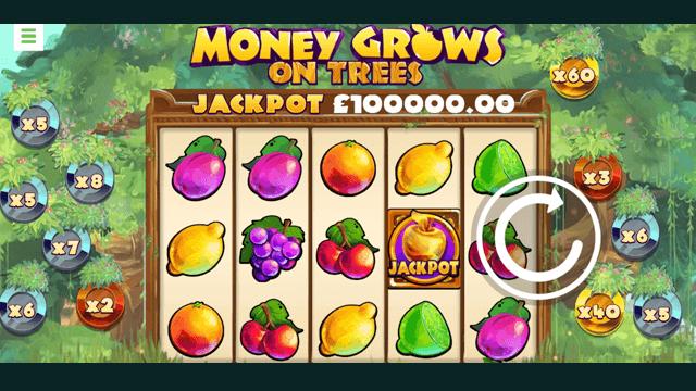 Money Grows On Trees online slots at Bonus Boss Online Casino - in game screen shot