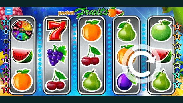 Pocket Fruits online slots at Bonus Boss Online Casino - in game screen shot