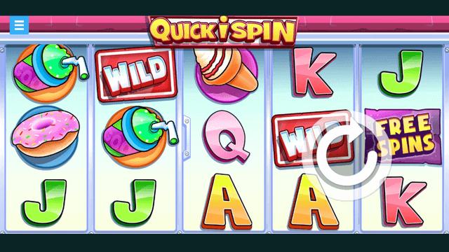 Quickispin online slots at Bonus Boss Online Casino - in game screen shot