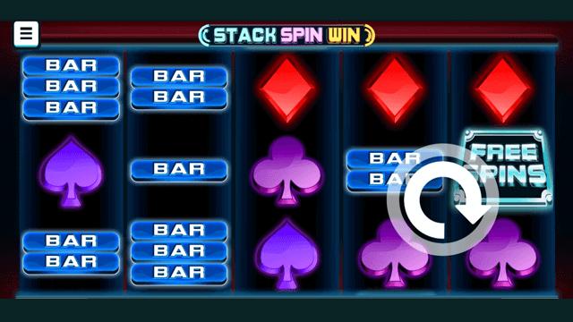 Stack Spin Win online slots at Bonus Boss Online Casino - in game screen shot