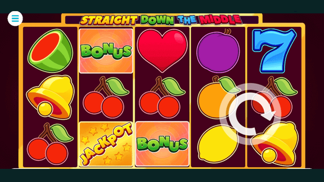 Straight Down The Middle online slots at Bonus Boss Online Casino - in game screen shot
