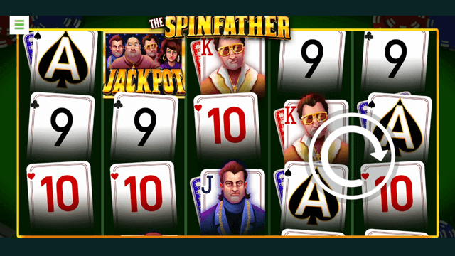 The Spinfather online slots at Bonus Boss Online Casino - in game screen shot