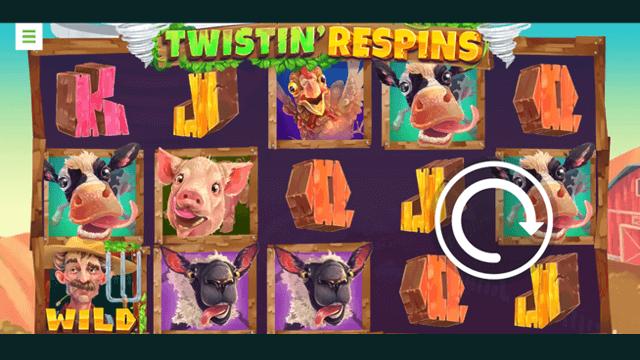 Twistin' Respins online slots at Bonus Boss Online Casino - in game screen shot