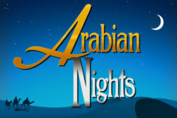 Arabian Nights online slots at Bonus Boss Online Casino - game grid
