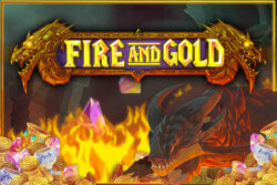Fire and Gold online slots at Bonus Boss Online Casino - game grid