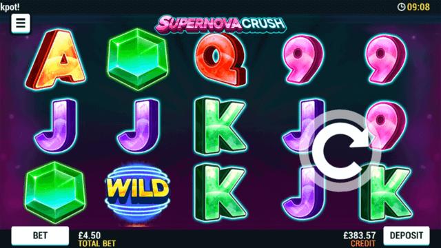 Supernova Crush online slots at Bonus Boss Online Casino - in game screenshot