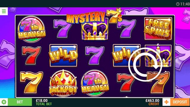Mystery 7s online slots in game screenshot