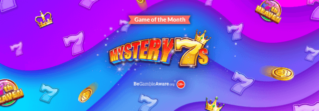 You could be in seventh heaven with our newest online slots game, Mystery 7s!