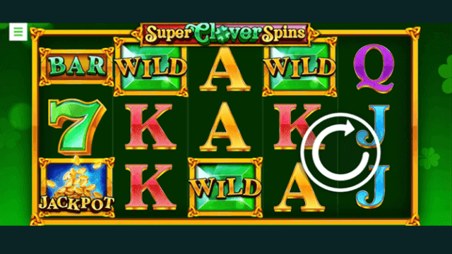 Super Clover Spins - Bonus Boss Casino online slots - in game screenshot