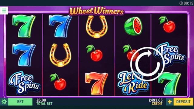 Wheel Winners online slots in game screenshot